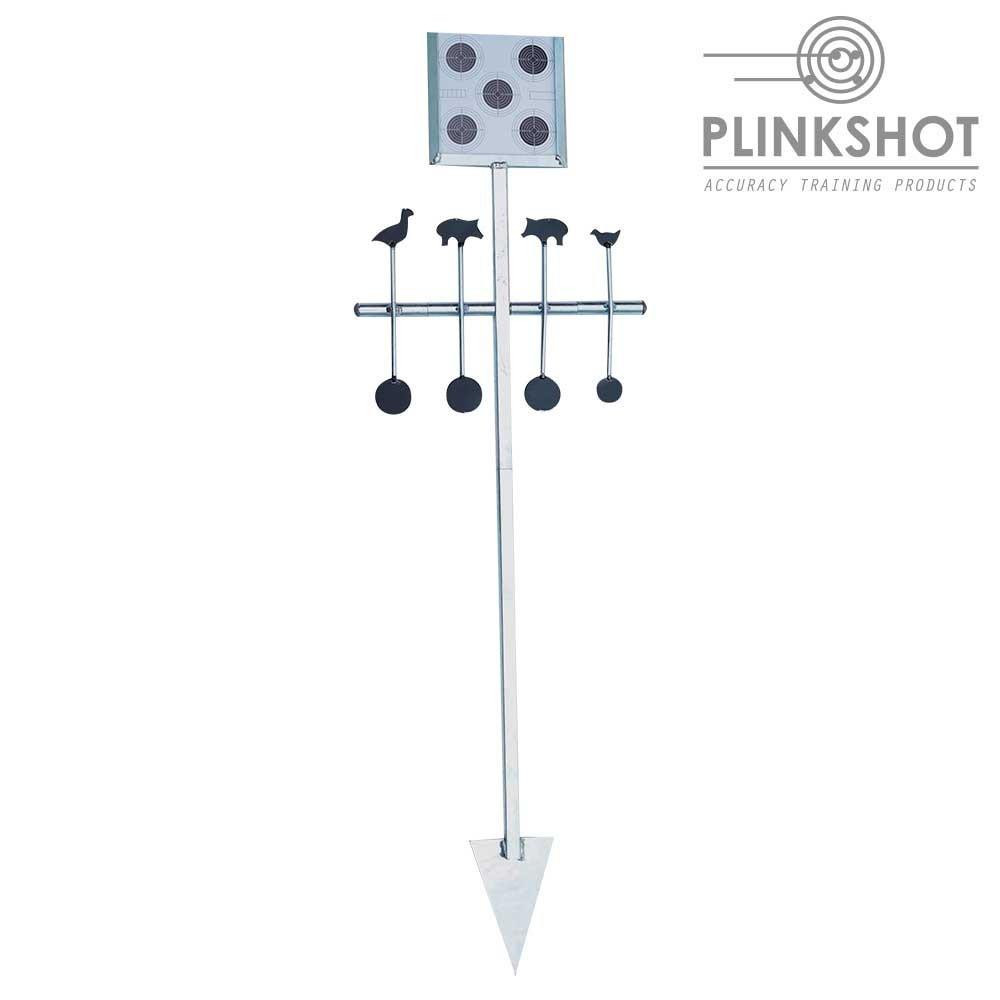 Diana rotativa con soporte diana papel Plinkshot