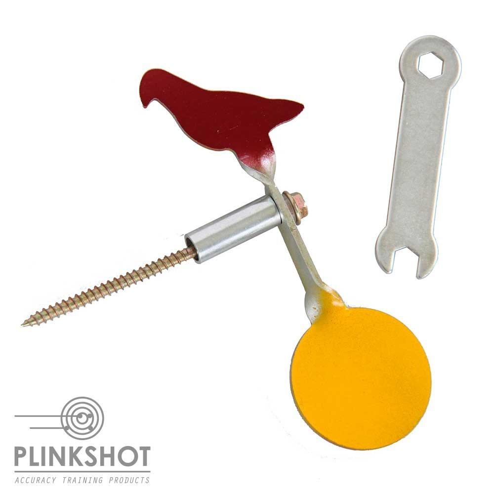 Punzón doble diana rotativa ave-círculo Plinkshot