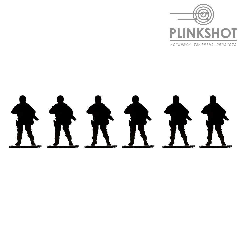 Diana silueta soldado en espera Plinkshot - 6 elementos