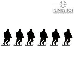 Diana silueta soldado corriendo Plinkshot - 6 elementos