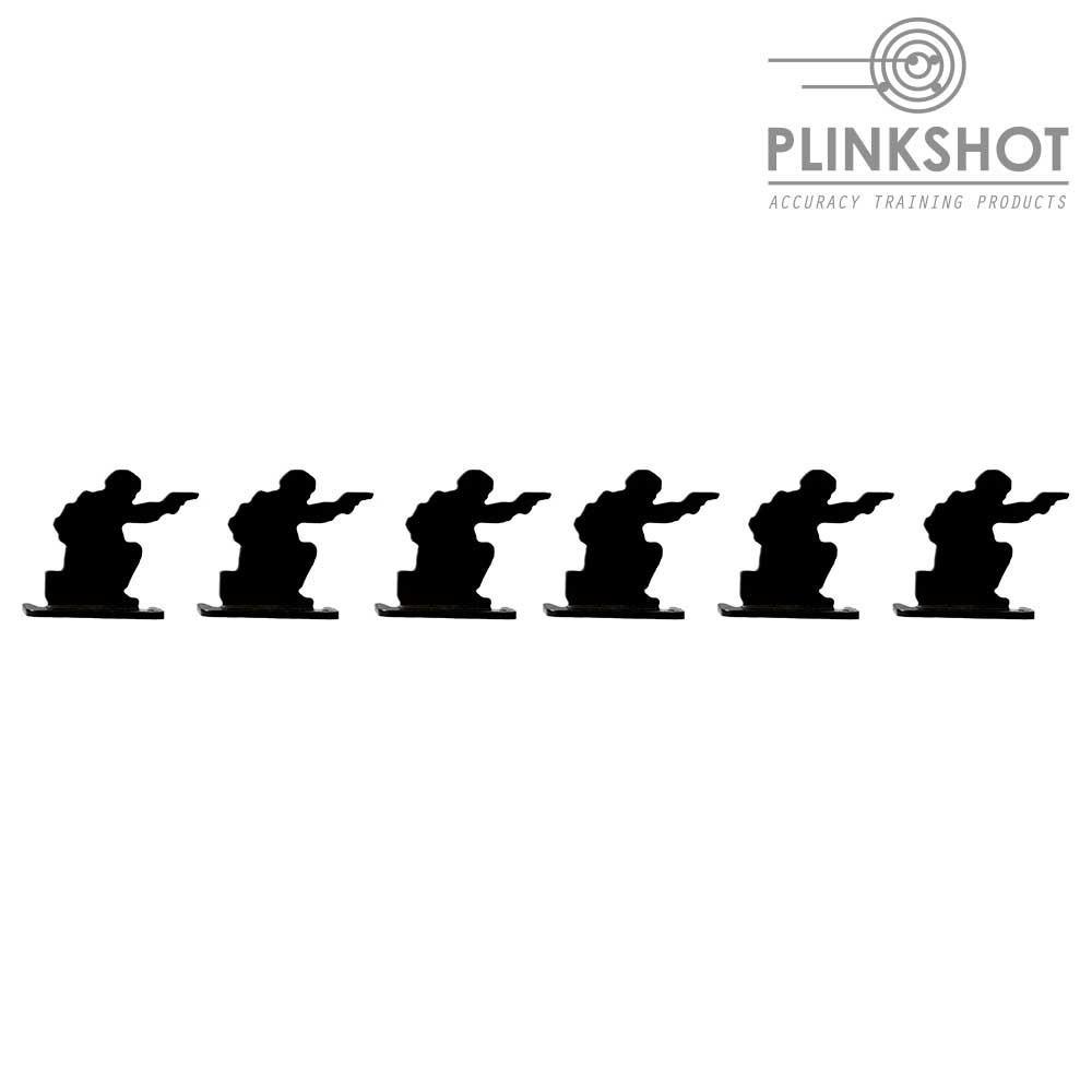 Diana silueta soldado rodillas Plinkshot - 6 elementos