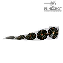 Rollo 100 dianas reactivas adhesiva Plinkshot ø12cm