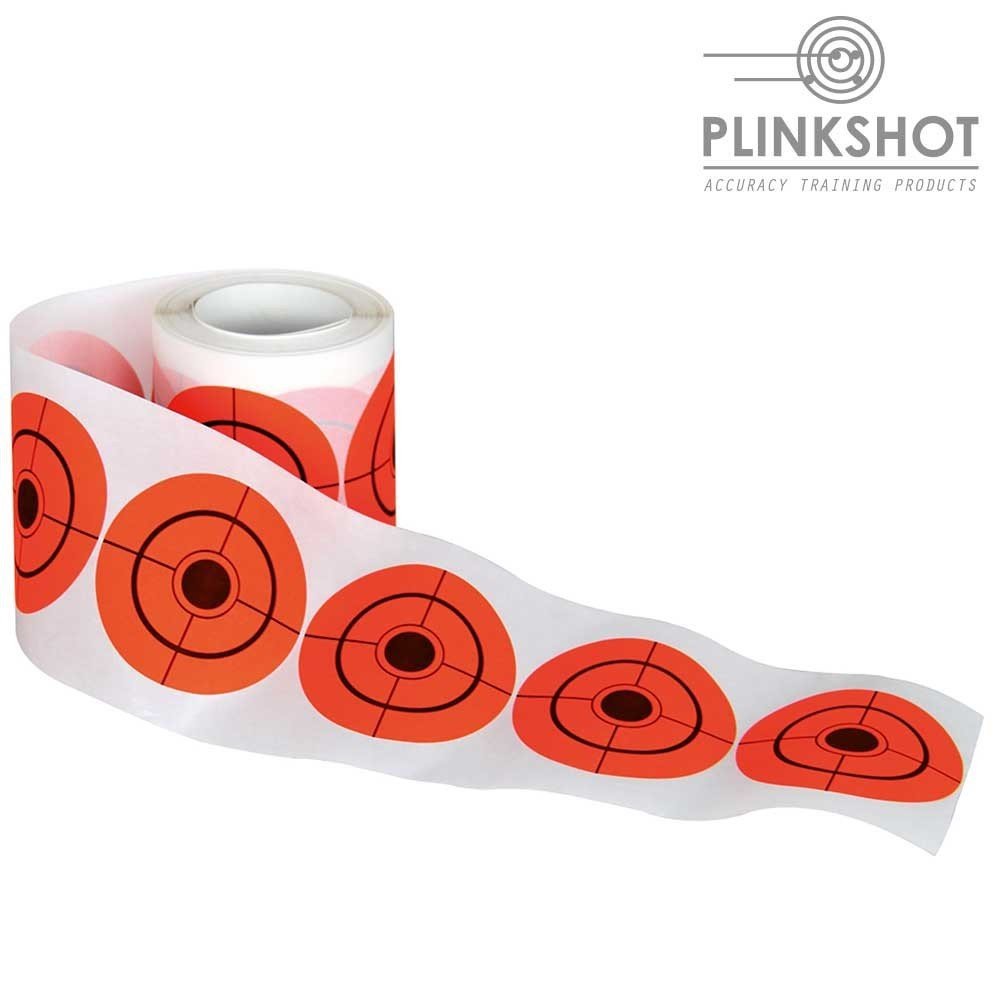Rollo Dianas adhesivas Plinkshot - 7,5cm. 250 un.