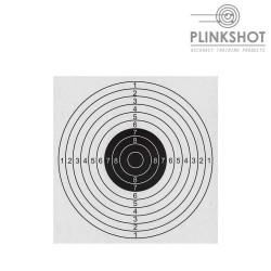 Paquete 100 dianas clásicas Plinkshot 14x14cm