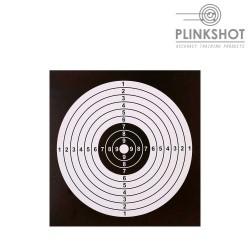 Paquete 100 dianas negras Plinkshot 14x14cm