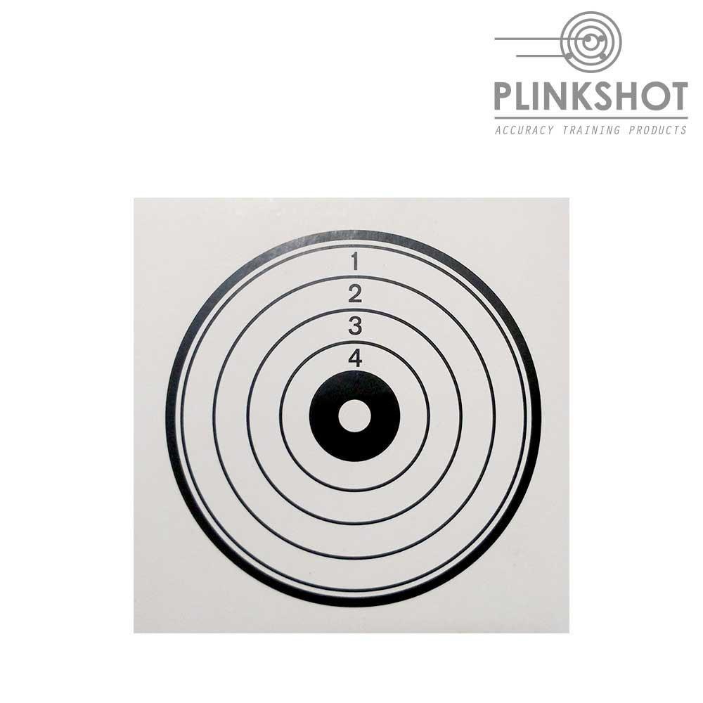 Paquete 100 dianas blancas Plinkshot 14x14cm