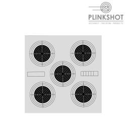 Paquete 100 dianas precisión Plinkshot 14x14cm