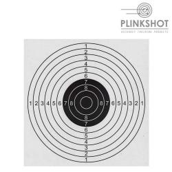 Paq.100 dianas clásicas Plinkshot 17x17cm