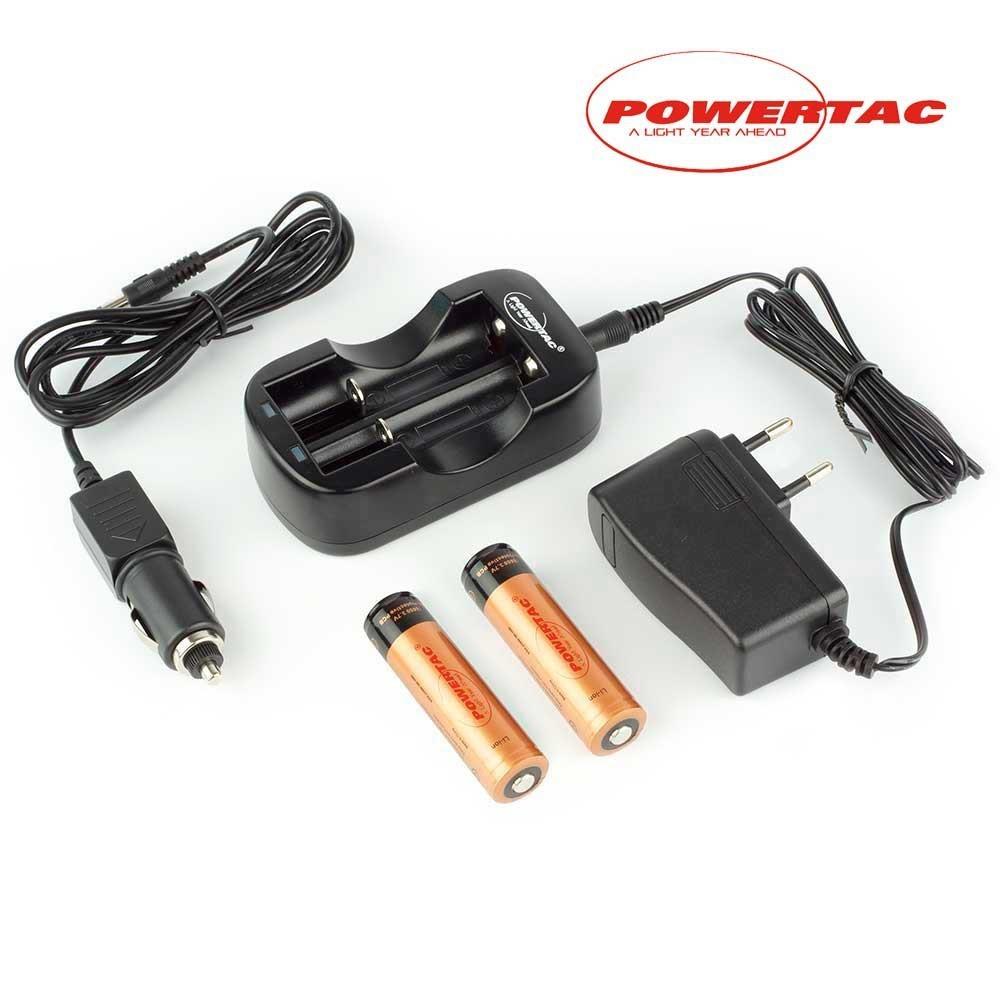 Kit 2 baterías 18650 2600mAh y cargador rápido