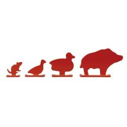 Diana silueta 4 animales